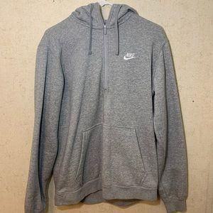 Nike Men's Half-Zip Gray/Silver Hoodie